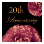 20. Jahrestags-Einladung - LILA Rosen