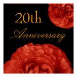 20. Jahrestags-Einladung - Rote Rosen