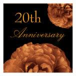 20. Jahrestags-Einladung - Vintage rosa Rosen