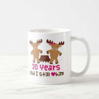 20. Jahrestags-Geschenk für sie Tasse