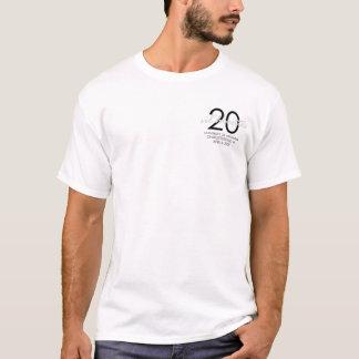 20. Jahrestags-T-Stück T-Shirt