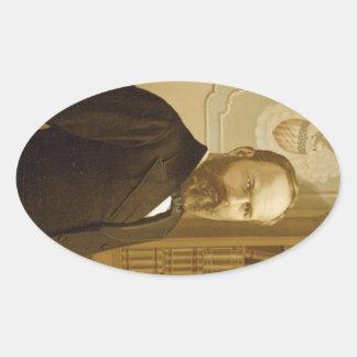 20 James Abram Garfield Ovaler Aufkleber
