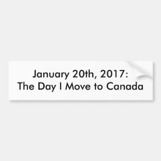 20. Januar 2017 politischer Autoaufkleber