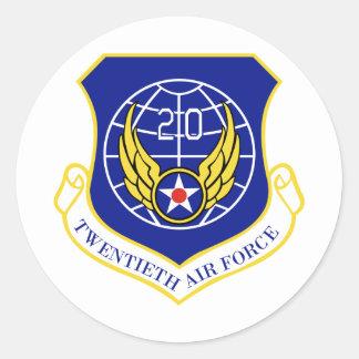 20. Luftwaffe Runder Aufkleber