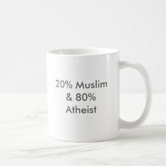 20% Moslems u. 80% Atheist Tasse