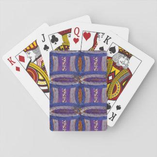 20. Muster; Gebogenes Bar, Mosaik u. Netz Spielkarten