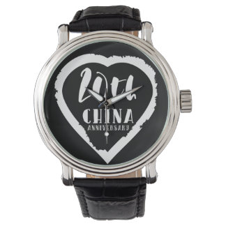 20. Traditionelle China des Hochzeitsjahrestages Uhr