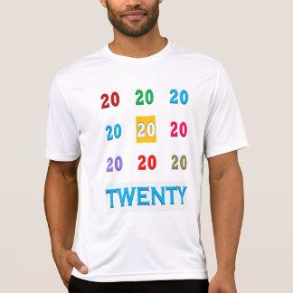20. Zwanzigster Jahrestags-ELEGANTES GIF des T-Shirt