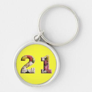 21. Geburtstag 21 Jahre des Meilenstein-Keychain Schlüsselanhänger