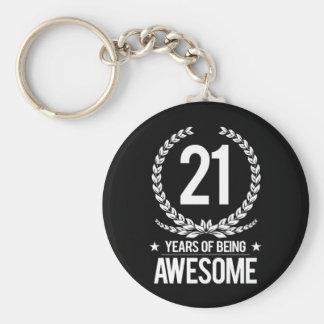 21. Geburtstag (21 Jahre des Seins fantastisch) Schlüsselanhänger