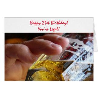 21. Geburtstag, Bier, sind Sie legal! Karte