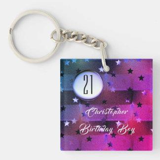 21. Geburtstag mit Sternen und Schlüsselanhänger