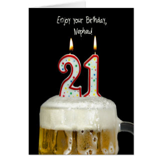 21. Geburtstags-Bier für Neffeen Grußkarte