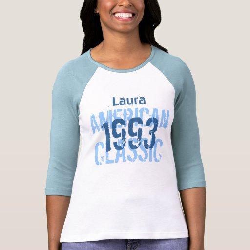 21. Geburtstags-Blau des amerikanischen Klassiker- T Shirts