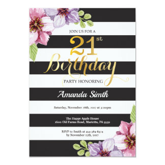 21. Geburtstags-Einladungs-Frauen. Karte