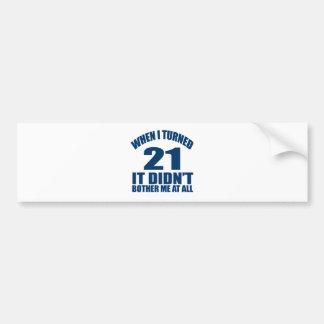 21 Geburtstags-Entwürfe Autoaufkleber