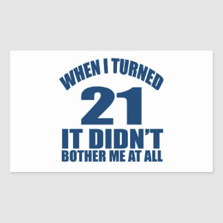 21 Geburtstags-Entwürfe Rechteckiger Aufkleber