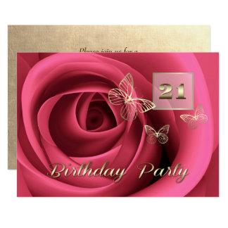 21. Geburtstags-Feier-Gewohnheits-Einladungen 12,7 X 17,8 Cm Einladungskarte