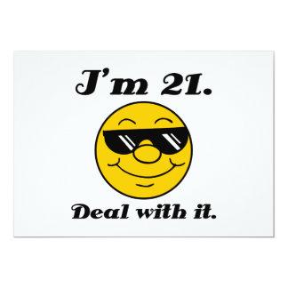 21. Geburtstags-Gag-Geschenk 12,7 X 17,8 Cm Einladungskarte