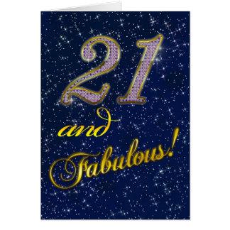 21. Geburtstags-Party Einladung
