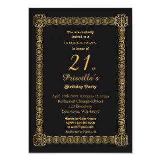 21., Geburtstags-Party, Gastby Art, Schwarzes u. Karte
