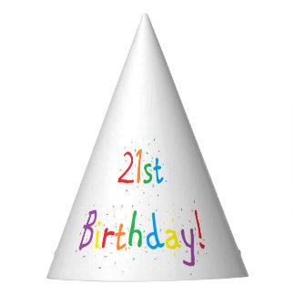 """""""21. Geburtstags-"""" Party-Hüte Partyhütchen"""