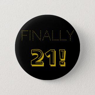 21. Geburtstags-Party im Gold und im Schwarzen Runder Button 5,1 Cm