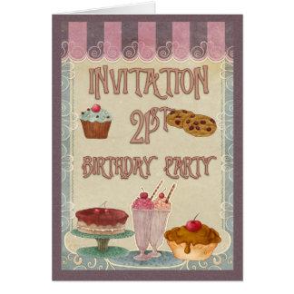 21. Geburtstags-Party - Kuchen, Plätzchen, Karte