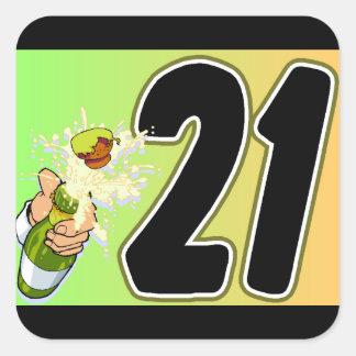 21. Geburtstags-Party-Umschlag Aufkleber oder