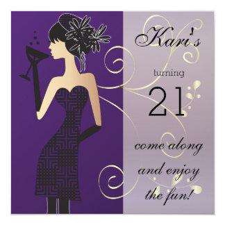 21. Geburtstags-Schlag-Party Karte