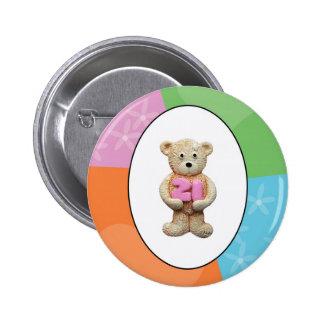 21. Geburtstags-Teddybär Runder Button 5,1 Cm