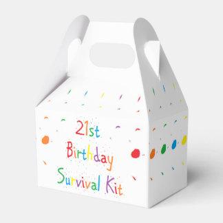 """""""21. Geburtstags-"""" Überlebensausrüstung Geschenkkartons"""