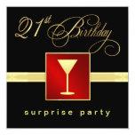 21. Geburtstags-Überraschungs-Party - Einladung