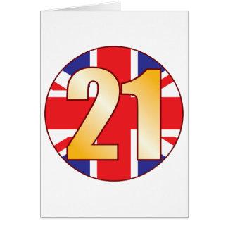 21 Großbritannien-Gold Karte