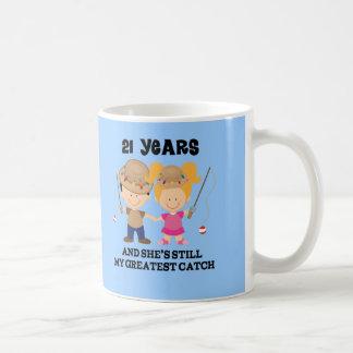 21. Hochzeitstag-Geschenk für ihn Tasse