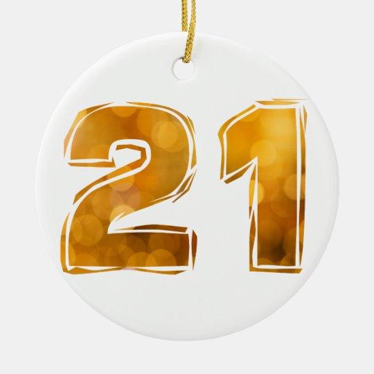 21 RUNDES KERAMIK ORNAMENT