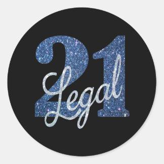 21. Spaß-Geburtstags-Party des Blau-| legales des Runder Aufkleber