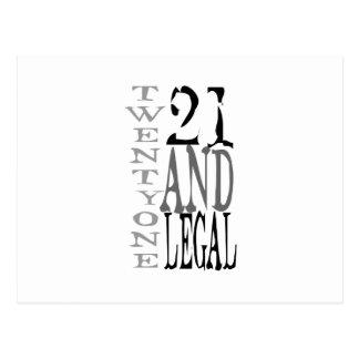 21. Zwanzig ein u. legale Typografie Postkarte
