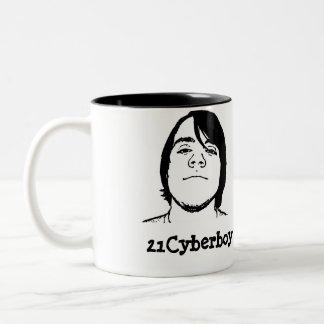 21Cyberboy Cup Zweifarbige Tasse