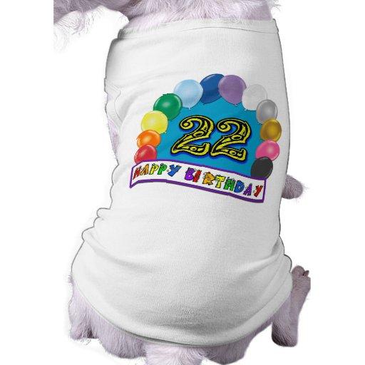 22. Geburtstags-Geschenke mit sortiertem Ballon-En Haustierklamotten