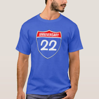 22. Jahrestag T-Shirt