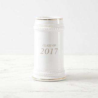 """22 Unze. """"KLASSE von 2017"""" Absolvent/von Abschluss Bierglas"""