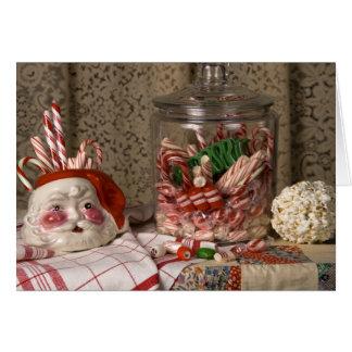 2345 Sankt-Vase u. Zuckerstange-Weihnachten Karte