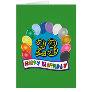 23. Geburtstags-Geschenke mit sortiertem Karte