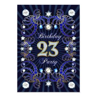 23. Geburtstags-Party laden mit Massen der Juwelen 12,7 X 17,8 Cm Einladungskarte