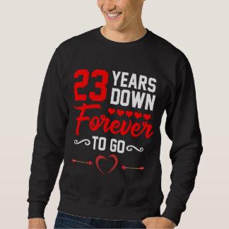 23. Jahrestags-T-Stück. Geschenk-Ideen für Sweatshirt