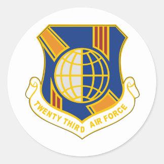 23. Luftwaffe Runder Aufkleber