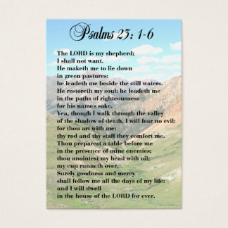 23. Psalm-persönliche Karten