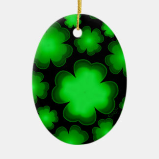 23 vier Blatt-Klee Keramik Ornament
