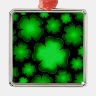 23 vier Blatt-Klee Silbernes Ornament